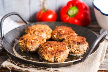 Flohsamen-Burger-Patties